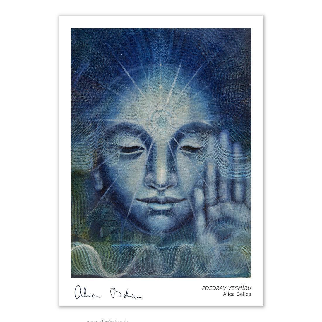 Art Print Pozdrav iz vesolja – Alica Belica