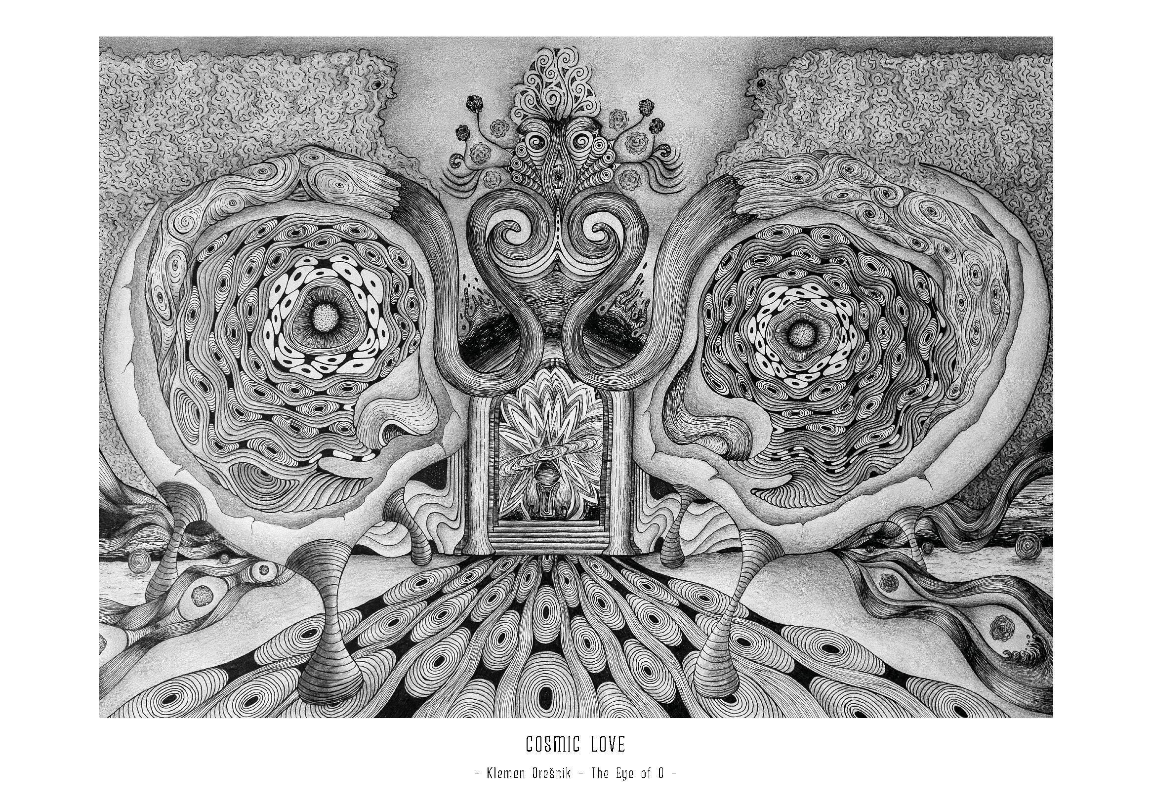 Art Print Cosmic Love – Klemen Orešnik