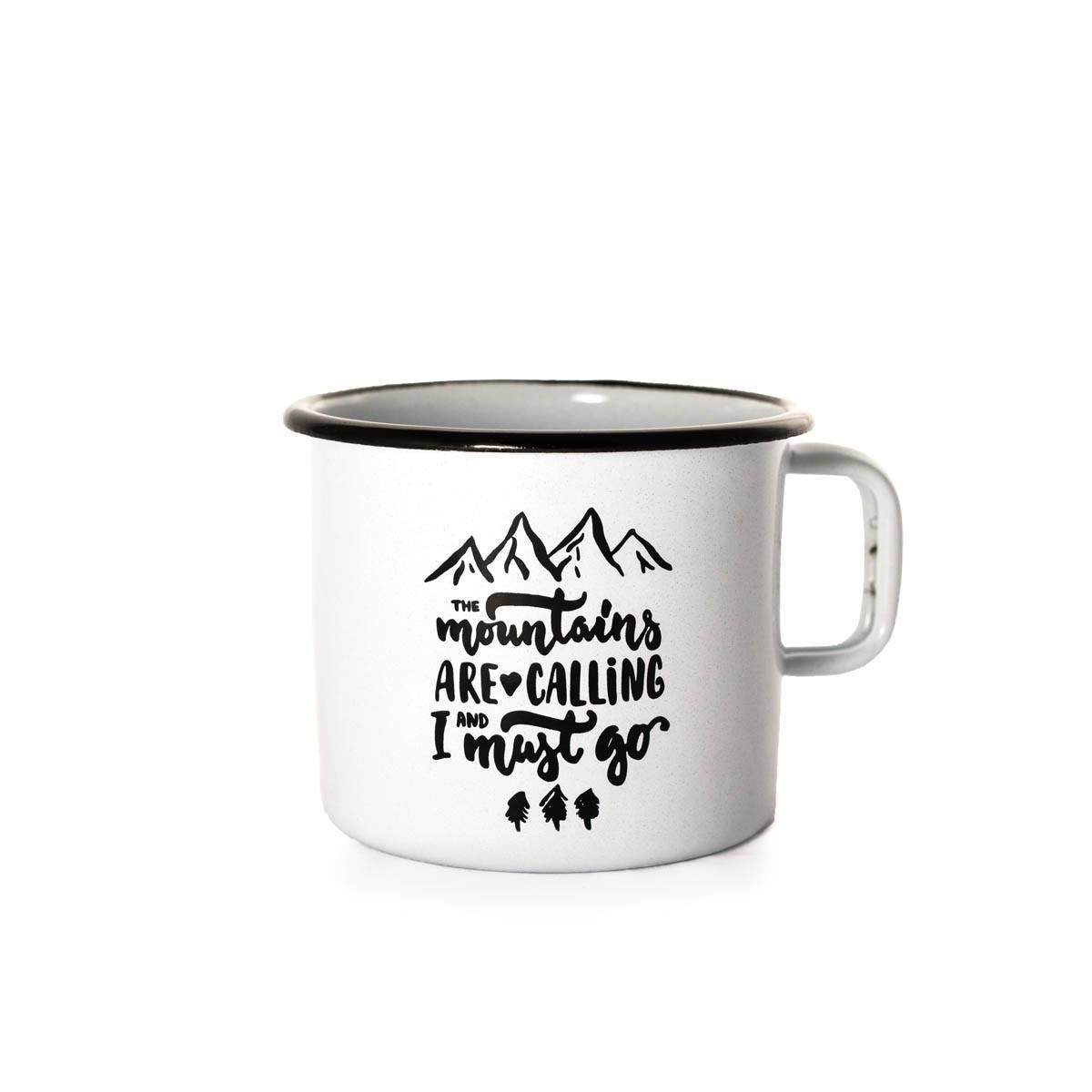 Emajlirana posoda Gremo v gore